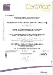 Certificat EN9120